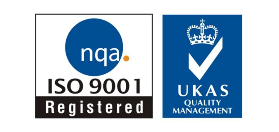 NQA ISO 9001 Registered - UKAS Quality Management