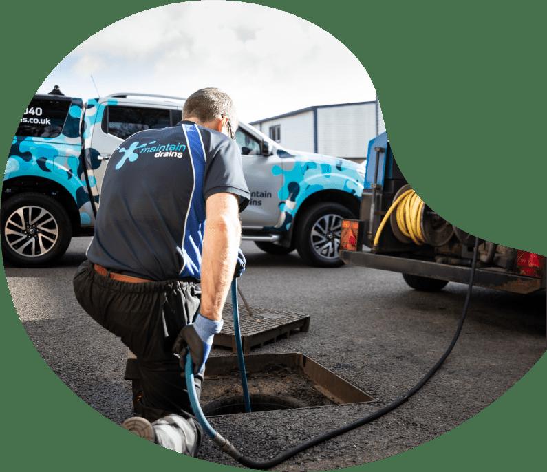 Maintain Drains plumber excavating an external drain