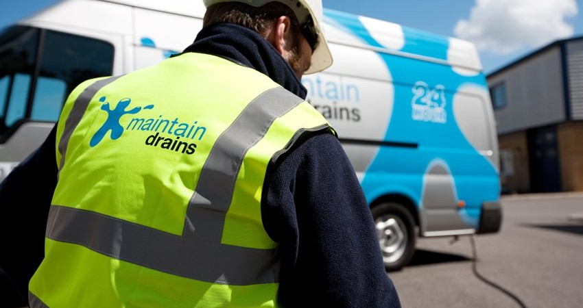 Maintain Drains plumber with Maintain Drains van