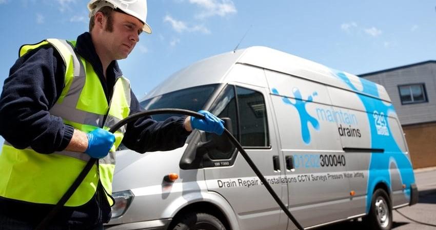 Maintain Drains plumber unblocking external drain