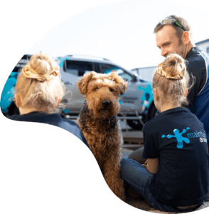 Maintain Drains plumber with children and dog